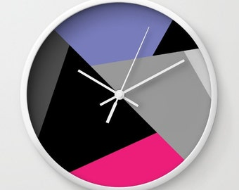 Mix colors wall clock,circle,black and white,modern wall clock,essential wall clock