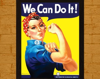 We Can Do It Poster 1942 Rosie the Riveter World War Poster War Propoganda Poster American Propoganda Iconic Poster  bp