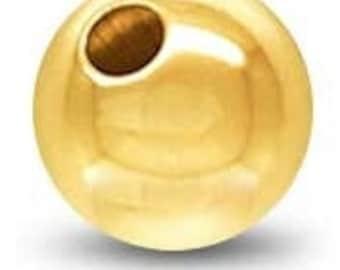 7mm Gold Filled Ball Bead, Plain, 18KGF, GF3281