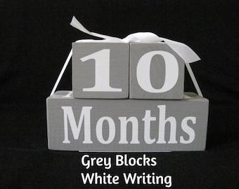 Baby Month Blocks, Baby Age Blocks, photo prop, grey baby blocks,monthly age blocks, baby milestone blocks, neutr