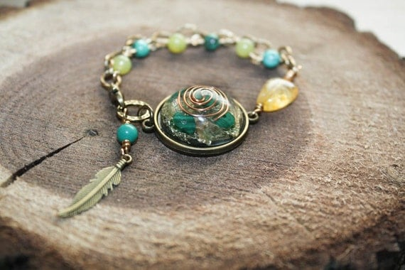 healing energize orgonite bracelet by