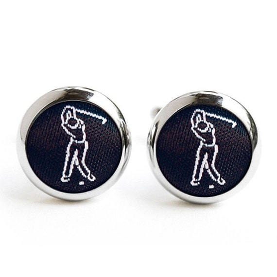 Golf cufflinks golfing gift for grooms cuff links for Golf buflings