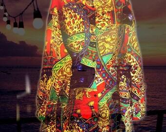 100% Silk Tunic... Plus size ..3X