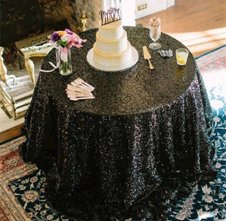 Marvelous Black Sequin Tablecloth, Sequence, Table Cloth, Table Runner, Table  Overlay, Wedding Tablecloth, Glitz, Gatsby Themed, Glam, Wedding Decor