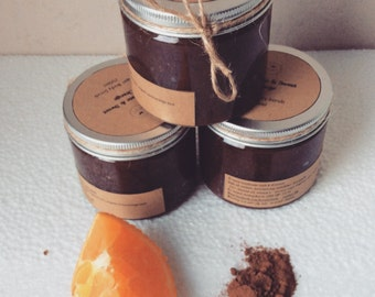 Organic Sugar body Scrub ( chocolate & Orange) natural 250 ml