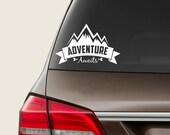 Adventure Awaits Decal, Car Decal, Car Sticker, Vinyl Decal, Car Accessories, Original Sticker, Gift Accessory, Window or Bumper Sticker
