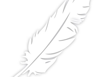 Feather Decal Sticker Car Truck Window Laptop Die Cut Vinyl Select Color/Size 40-0011