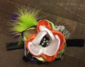 Hallween Headband- Baby Headband- Silk Flower