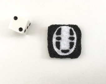 No Face Felt Fridge Magnet