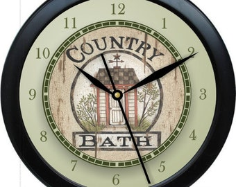 "Country Bath Personalized 10"" Bathroom Wall Clock"
