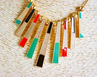 Necklace, vintage necklace, 1980s necklace, retro necklace