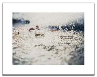 Raindrop Photograph | Fine Art Archival Photograph Mounted on Styrene | Ready to Frame | Water Photograph | Fine Art | Home Decor