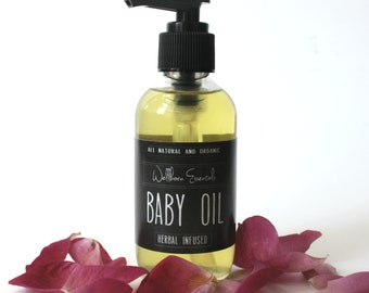 Herbal Infused Baby Oil · Baby Massage Oil · Organic Baby Products · Organic Baby Oil · Baby Shower Gift ·  Gift for New Mom