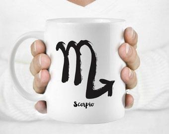 Unique coffee mug-Scorpio mug-Horoscope mug-Personalized mug-Art mug-Ceramic mug-Coffee Cup-Coffee Lovers-Birthday gift-Coffee giftHuppyMugs