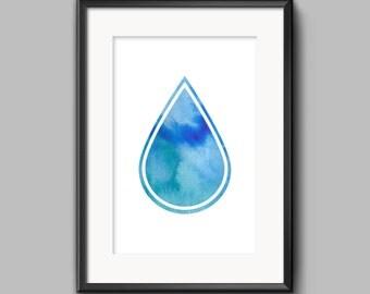 Water Drop 11x14 Print Wall Art