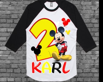 Mickey Mouse Birthday Shirt - Mickey Mouse Shirt - Other Styles Available