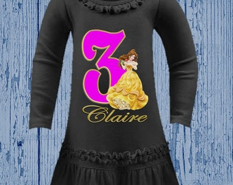 Belle Birthday Shirt - Beauty and the Beast Dress