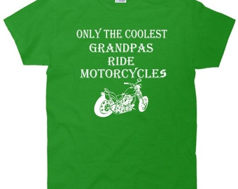 Only The Coolest Grandpas Ride Motorcycles Bike T-Shirt