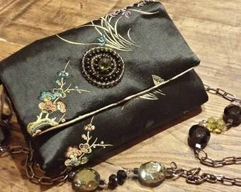 Italian silk handbag
