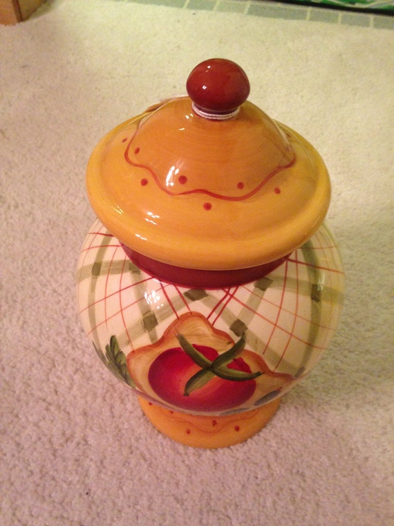 Beautiful Ginger Shaped Covered Cookie Jar