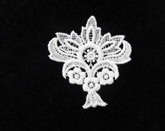 White Cotton Medallion - Lot of 12