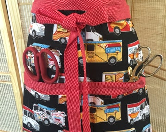 Food truck apron, vendor apron,half apron