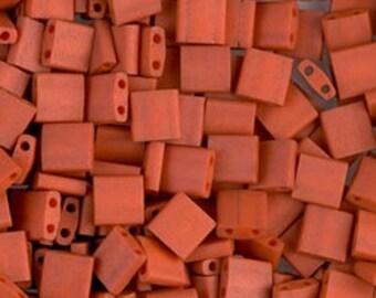 Tila Bead- Matte Op Tera Cotta #2315  Miyuki Tila Beads - 10 grams