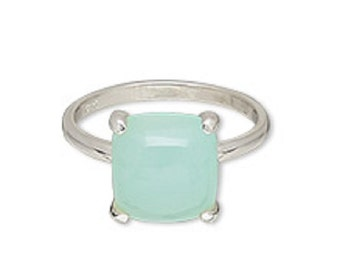 Natural Chalcedony Ring,size 7