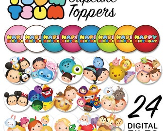Tsum Tsum Cupcake Toppers Digital File