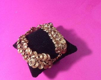 Copper Egyptian Coil Bracelet