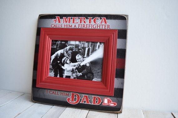 Firefighter Gift Fireman Gift Fireman Frame Firefighter