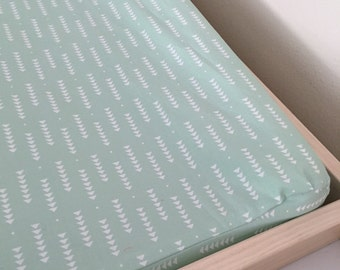 Mint Arrows changing pad cover, changing pad, mint bedding, baby bedding, tribal baby bedding,