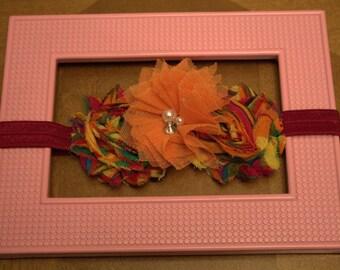 Orange and Burgandy headband