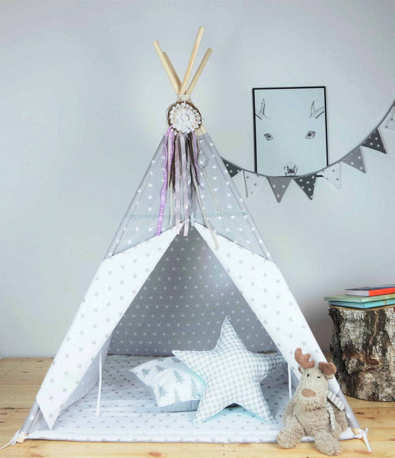 tipi pour enfants playtent tipi zelt wigwam tipis par minukids. Black Bedroom Furniture Sets. Home Design Ideas