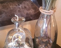 Recycled Patron Bottle Oil Lamp