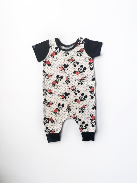 Mickey Mouse Romper Baby Harem Romper Baby Disney Clothes