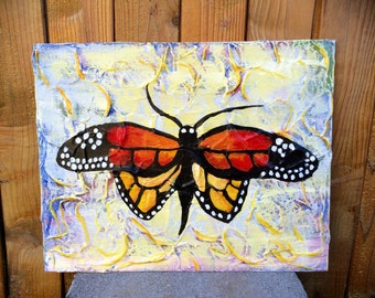 """Original Acrylic Painting, """"Fly"""" 14 by 11"""