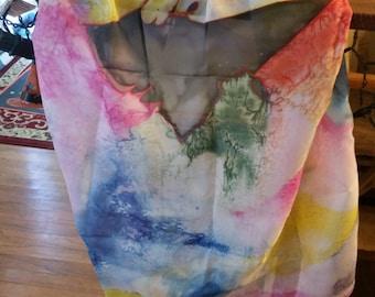 Soft Multi-color Silk Scarf