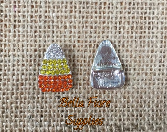 Candy Corn Rhinestone Button- Candy Corn Button- 24mm x 16mm- Halloween Button- Halloween Embellishment-