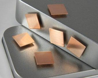 Copper Magnets - Refrigerator Magnet - Office Decoration - Copper Square - Kitchen Magnets - Copper Magnet Set - Interior Design - CSQ01