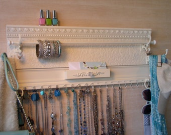 Jewelry organizer. READY TO SHIP Accessory holder for scarves,necklaces,earrings,bracelets,,belts,hats,& bags. Max display storage gift !