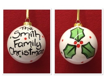 Personified Christmas Family Bauble
