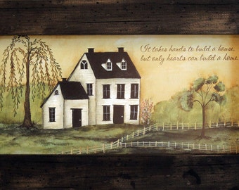 Inspirational Decor, Country Decor, Farmhouse Decor, 11x19, Rustic and Distressed Wood Frame, Inspirational Saying, Farm Decor, Farmhouse.