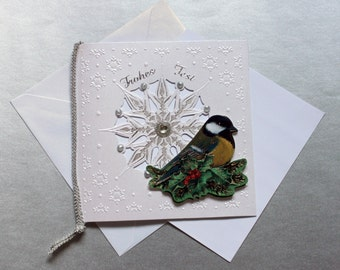 Christmas card Christmas greeting card snow Crystal