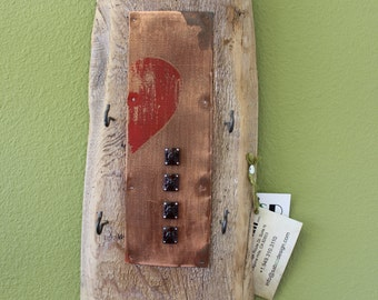California Pine Wood Key Holder