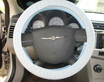 Steering-Wheel -Cover-100% Cotton.