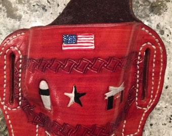 Custom Leather Gun Holster Texas Raised
