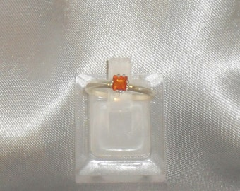 """Opal ring """"fire"""" stone fine gemstone and Sterling Silver 925"""