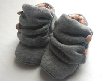Baby Scuff Booties - organic cotton