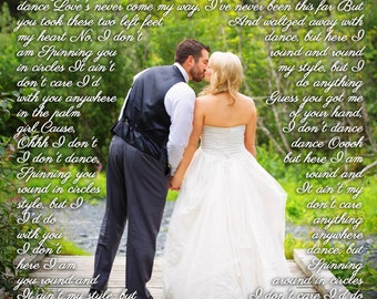 Wedding Anniversary, Wedding Canvas Gift, Vows to Cotton Canvas, First Dance Lyrics, Canvas Wedding Pictures, Anniversary Gift for Couple